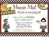 Italian themed Birthday Party Invitations Italian themed Party Invitations Oxsvitation Com