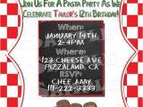 Italian themed Birthday Party Invitations Printable Quot Pasta Party Invitation Quot Italian themed Party