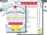 Italian themed Bridal Shower Invitations Italian themed Shower Invitation and Bonus Game Bridal