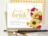 Italian themed Bridal Shower Invitations Tuscan Sunflower Bridal Shower Invitation Italian Flowers