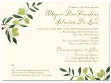 Italian Wedding Invitations Wording Olive De toscane Premium Recycle Paper Wedding and
