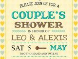 Jack and Jill Baby Shower Invitation Wording Bridal Shower Invitations Couples Bridal Shower