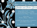 Jack and Jill Bridal Shower Invitations C64 Jack and Jill Black Shower Invitation Blue White Polk