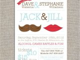 Jack and Jill Bridal Shower Invitations Jack & Jill Tickets Mr and Mrs