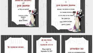 Jack and Sally Wedding Invitation Template Jack and Sally Wedding Invitation Set Nightmare before