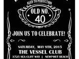 Jack Daniels 40th Birthday Invitations Diy Jack Daniels Inspired 40th Birthday Invitation 4×6
