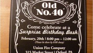 Jack Daniels 40th Birthday Invitations Jack Daniel S Inspired 40th Birthday Party Hostess with