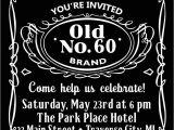 Jack Daniels 40th Birthday Invitations Jack Daniels Birthday Invitation