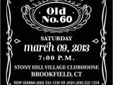 Jack Daniels 40th Birthday Invitations Jack Daniels Inspired Birthday Party Invitation