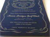 Jack Daniels Wedding Invitations Jack Daniels themed Wedding Invitation Invitations