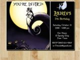 Jack Skellington Birthday Invitations Items Similar to the Nightmare before Christmas Birthday