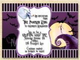 Jack Skellington Birthday Invitations Jack Skellington Invitation Nightmare before Christmas