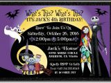 Jack Skellington Birthday Invitations Nightmare before Christmas Birthday Invitation [di 346
