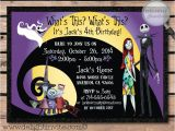 Jack Skellington Birthday Invitations Nightmare before Christmas Birthday Invitations by