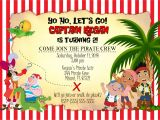 Jake and the Neverland Pirates Party Invitations Jake and the Neverland Pirates Birthday Invitation