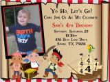 Jake and the Neverland Pirates Party Invitations Jake and the Neverland Pirates Birthday Invitations Free