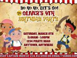 Jake and the Neverland Pirates Party Invitations Jake and the Neverland Pirates Party Games Invitations