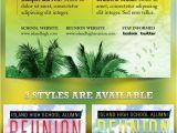 Jamaican Party Invitation Template island School Reunion Flyer Template Flyer Template