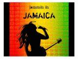 Jamaican Party Invitation Template Jammin In Jamaica Reggae Rasta Postcard Zazzle