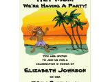 Jamaican themed Bridal Shower Invitations Hey Mon Jamaica Beach Birthday Party Invitation