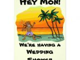 Jamaican themed Bridal Shower Invitations Hey Mon Jamaica Beach Wedding Bridal Shower 5×7 Paper