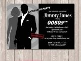 James Bond Party Invitations James Bond 007 Birthday Invitation You Print by Deezee