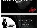 James Bond Party Invitations James Bond Birthday Invitation On Behance