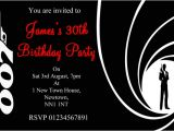 James Bond Party Invitations James Bond Party Invitations