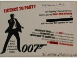 James Bond Party Invitations James Bond theme Party