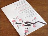 Japanese Cherry Blossom Wedding Invitations Cherry Blossom Wedding Day Inspiration Letterpress