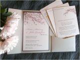 Japanese Cherry Blossom Wedding Invitations Copper Ink Wedding Designs Blog Wedding Design and