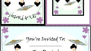 Japanese Tea Party Invitations Free Printable Tea Party Invitations Japanese