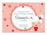 Japanese Tea Party Invitations Kokeshi Doll Japanese Tea Party Invitation Zazzle