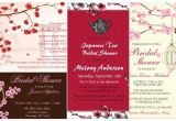 Japanese themed Party Invitations Bridal Shower Cherry Blossom Floral Invitations