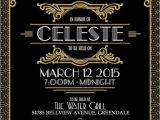 Jay Gatsby Party Invitation Gatsby Black and Gold Invitation Art Deco Hollywood Style