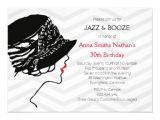 Jazz Party Invitations Jazz Booze Great Gatsby Birthday Invitation Zazzle