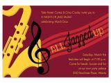Jazz Party Invitations Jazz Music Corporate Invitations by Invitation