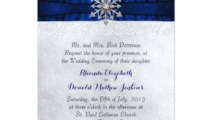 Jeweled Wedding Invitations Elegant Jeweled Snowflake Wedding Invitation Zazzle