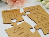 Jigsaw Puzzle Party Invitations Engraved Wooden 39 Save the Date 39 Puzzle Personalized Favors