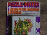 Jigsaw Puzzle Party Invitations Puzzle Party Invitations H is for Home