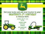John Deere Party Invitations Free Birthday Invitations John Deere Farm Birthday