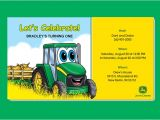 John Deere Party Invitations Free Free Printable John Deere Printable Birthday Invitations