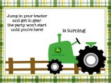 John Deere Party Invitations Free Free Printable John Deere Tractor Birthday Invitation