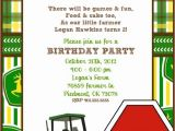 John Deere Party Invitations Free Items Similar to Customizable Printable John Deere Invite