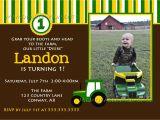 John Deere Tractor Birthday Party Invitations Birthday Invitations John Deere Farm Birthday