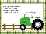 John Deere Tractor Birthday Party Invitations Free Printable John Deere Tractor Birthday Invitation