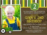 John Deere Tractor Birthday Party Invitations John Deere Birthday Party Invites Bday Ideas for Sam 2nd