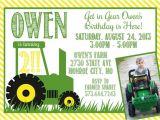 John Deere Tractor Birthday Party Invitations John Deere Green Tractor Birthday Invitation by