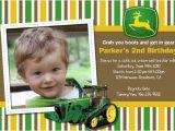 John Deere Tractor Birthday Party Invitations John Deere Tractor Custom Birthday Invitation Flickr