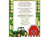 John Deere Tractor Birthday Party Invitations Large John Deere Invitation Templates John Deere